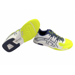 Buty UNIHOC U3 ELITE MEN white/blue/yellow